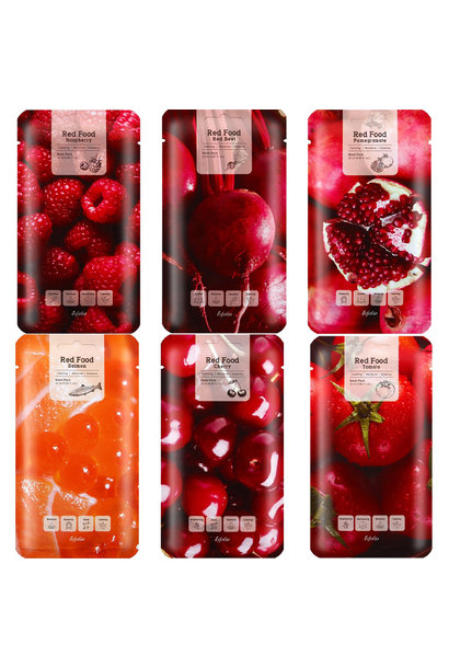 Red  Food Mask Pack (6 pcs)