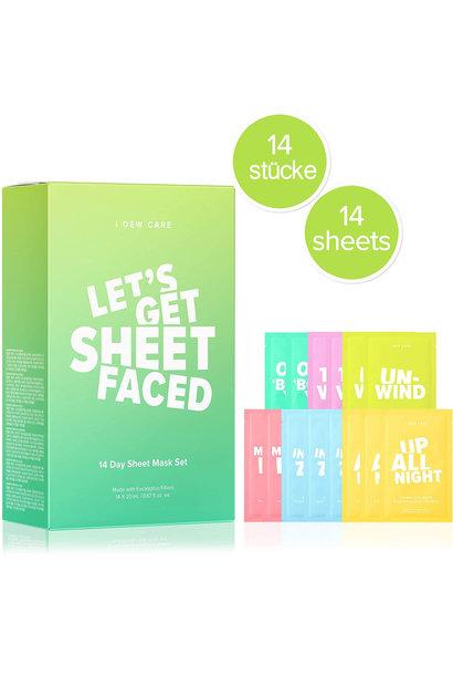 """""""Let's Get Sheet Faced"""" Mask Set (14 pcs)"""