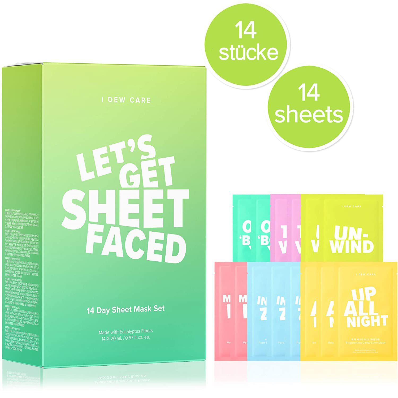 """""""Let's Get Sheet Faced"""" Sheet Mask Set (14 pcs)-1"""