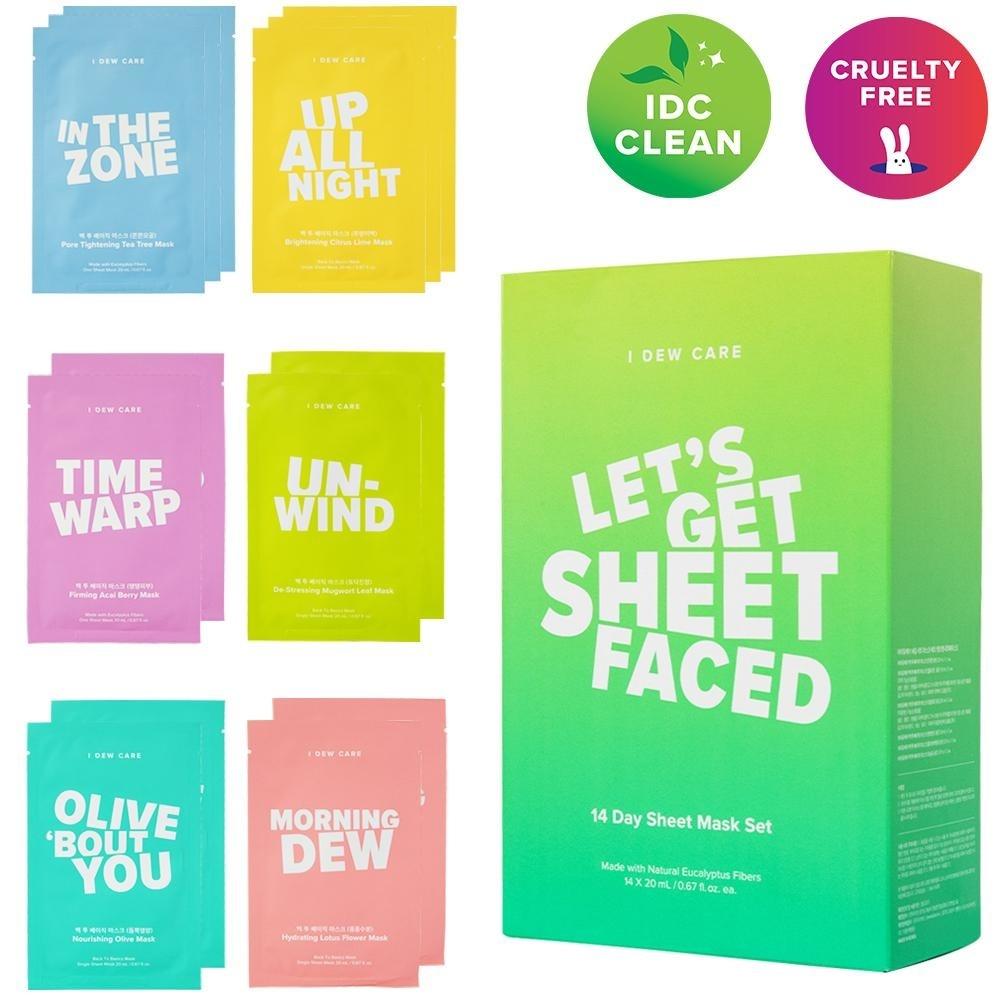 """""""Let's Get Sheet Faced"""" Sheet Mask Set (14 pcs)-2"""