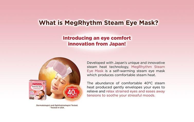MegRhythm Steam Eye Mask - Rosenduft (1 Stk)-3