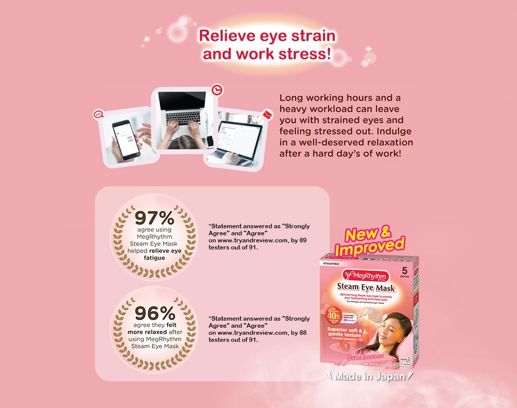 MegRhythm Steam Eye Mask -  For Men (1 pc)-4