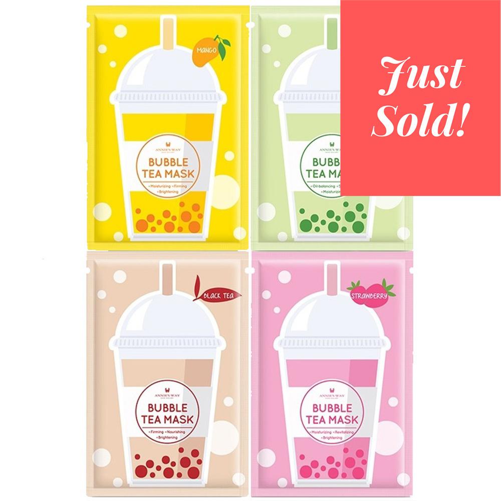 Bubble Tea Silk Mask Trial Mix (4 pcs)-1