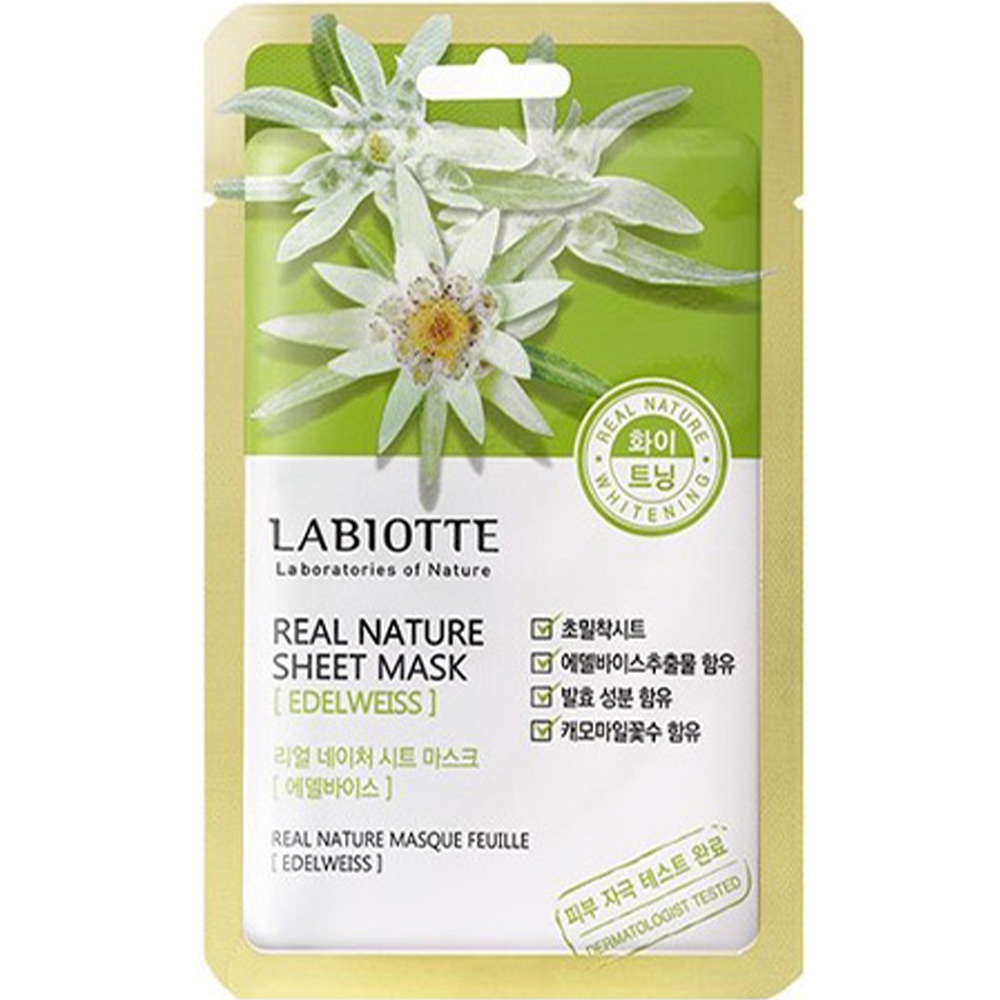 Real Nature Sheet Mask Edelweiss-1