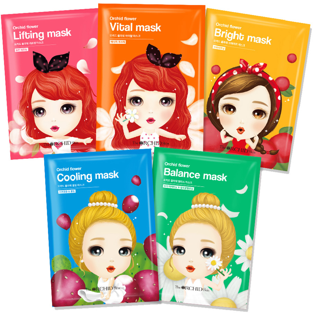 Orchid Flower Sheet Mask Mix Set (5 pcs)-1