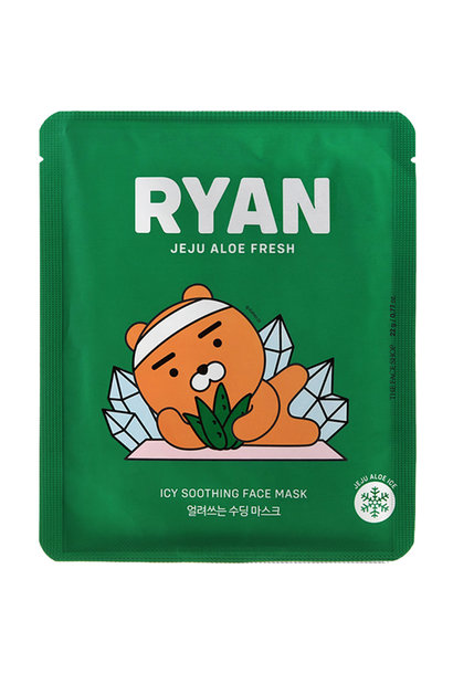 Jeju Aloe Fresh Icy Soothing Mask Kakao Friends Limited Edition