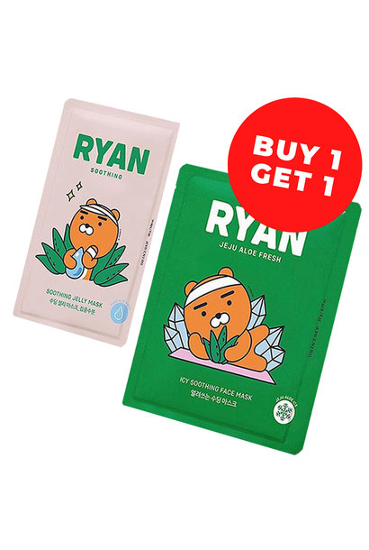 Ryan Soothing Face Mask Mix Set (Kakao Friends Limited Edition)