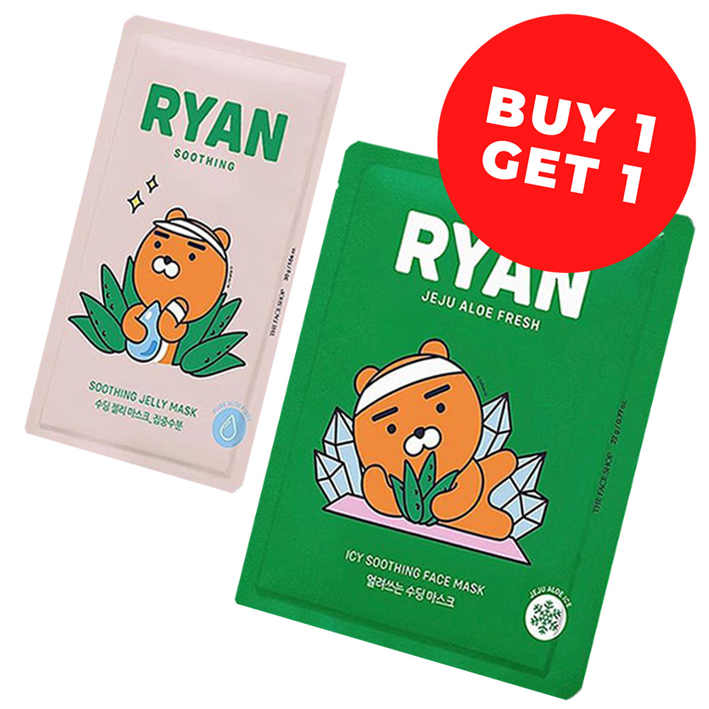 Ryan Soothing Face Mask Mix Set (Kakao Friends Limited Edition)-1