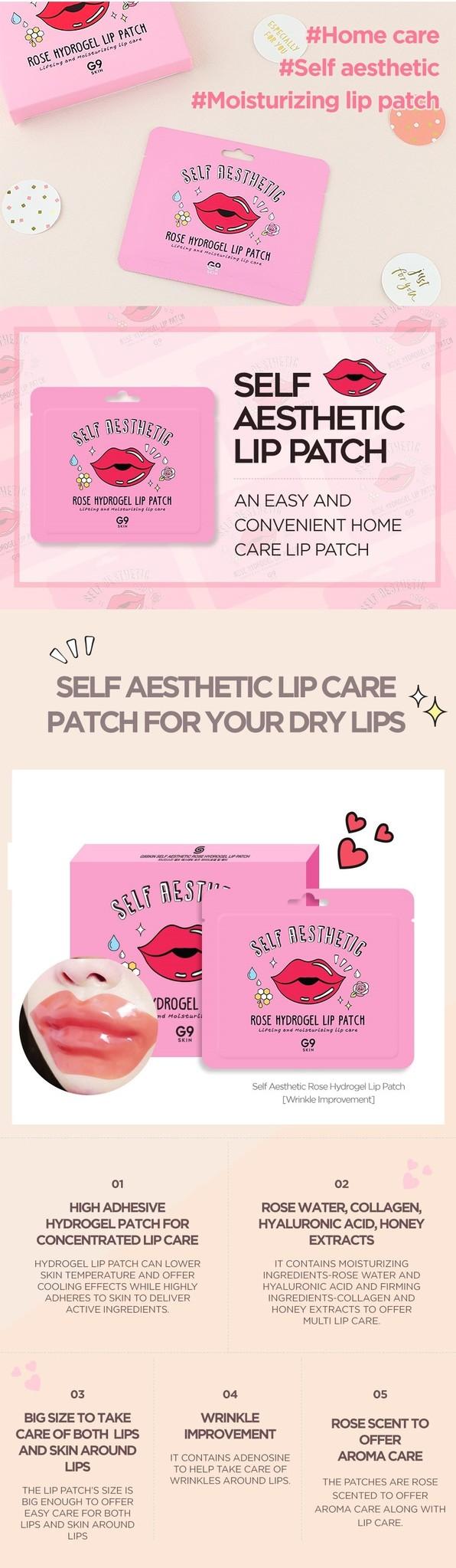 Self Aesthetic Rose Hydrogel Lip Patch-3