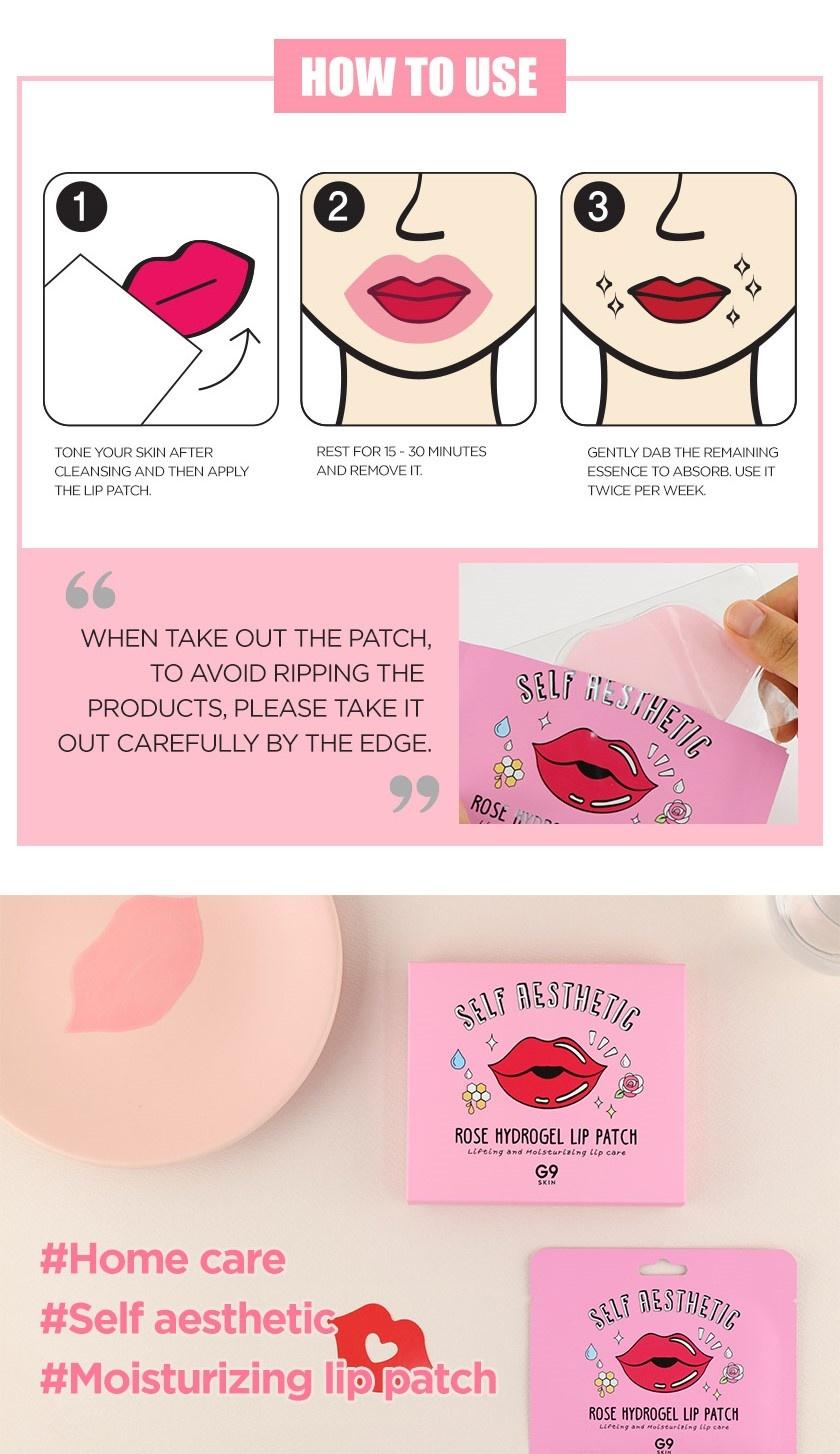 Self Aesthetic Rose Hydrogel Lip Patch-8