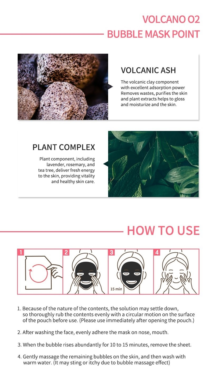 Detoxifying Black O2 Bubble Mask #Volcano-5