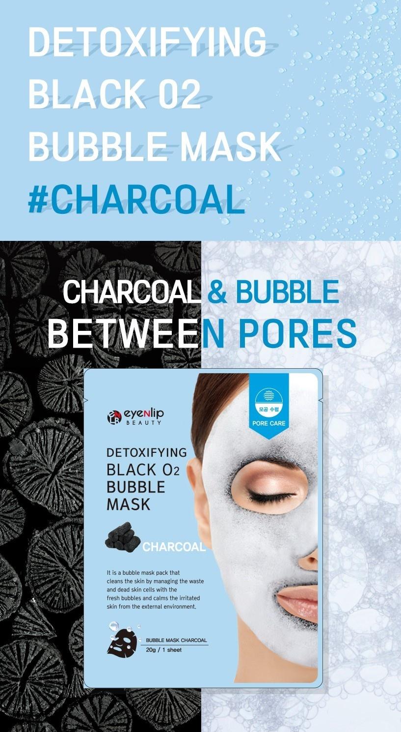 Detoxifying Black O2 Bubble Mask #Charcoal-2