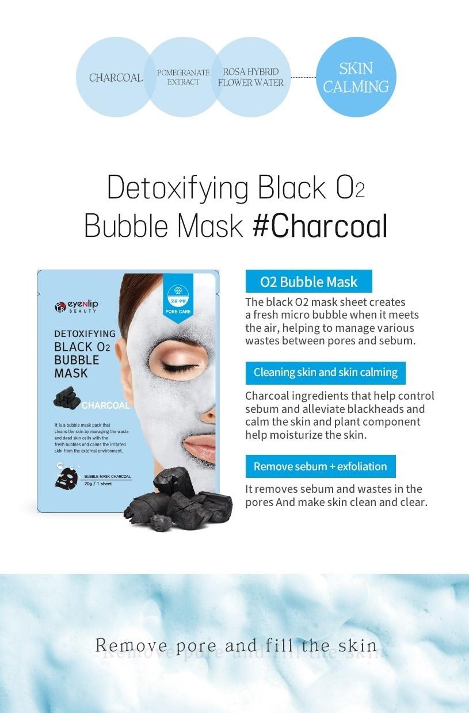 Detoxifying Black O2 Bubble Mask #Charcoal-3