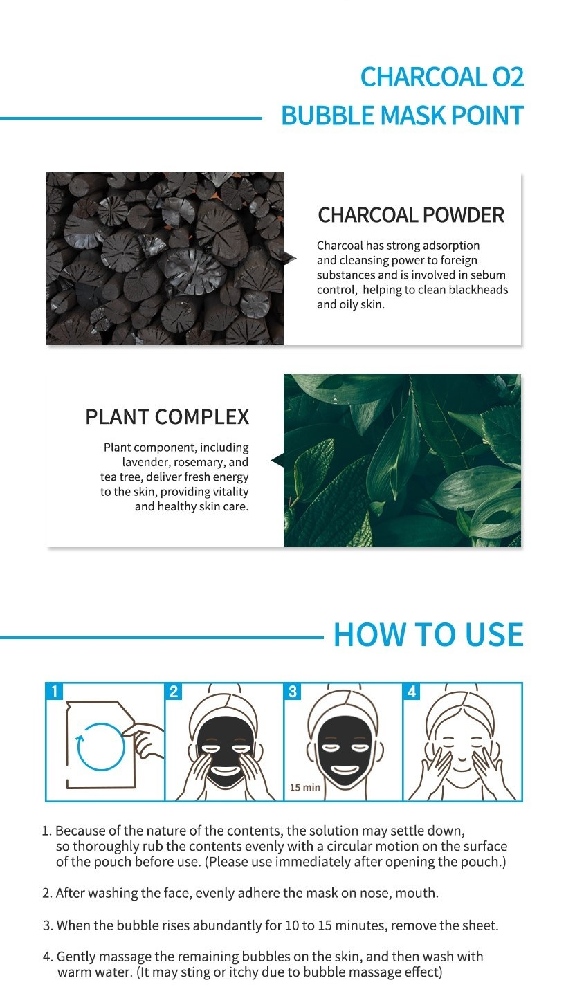 Detoxifying Black O2 Bubble Mask #Charcoal-5