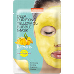 PUREDERM Deep Purifying Yellow O2 Bubble Mask (Kurkuma)