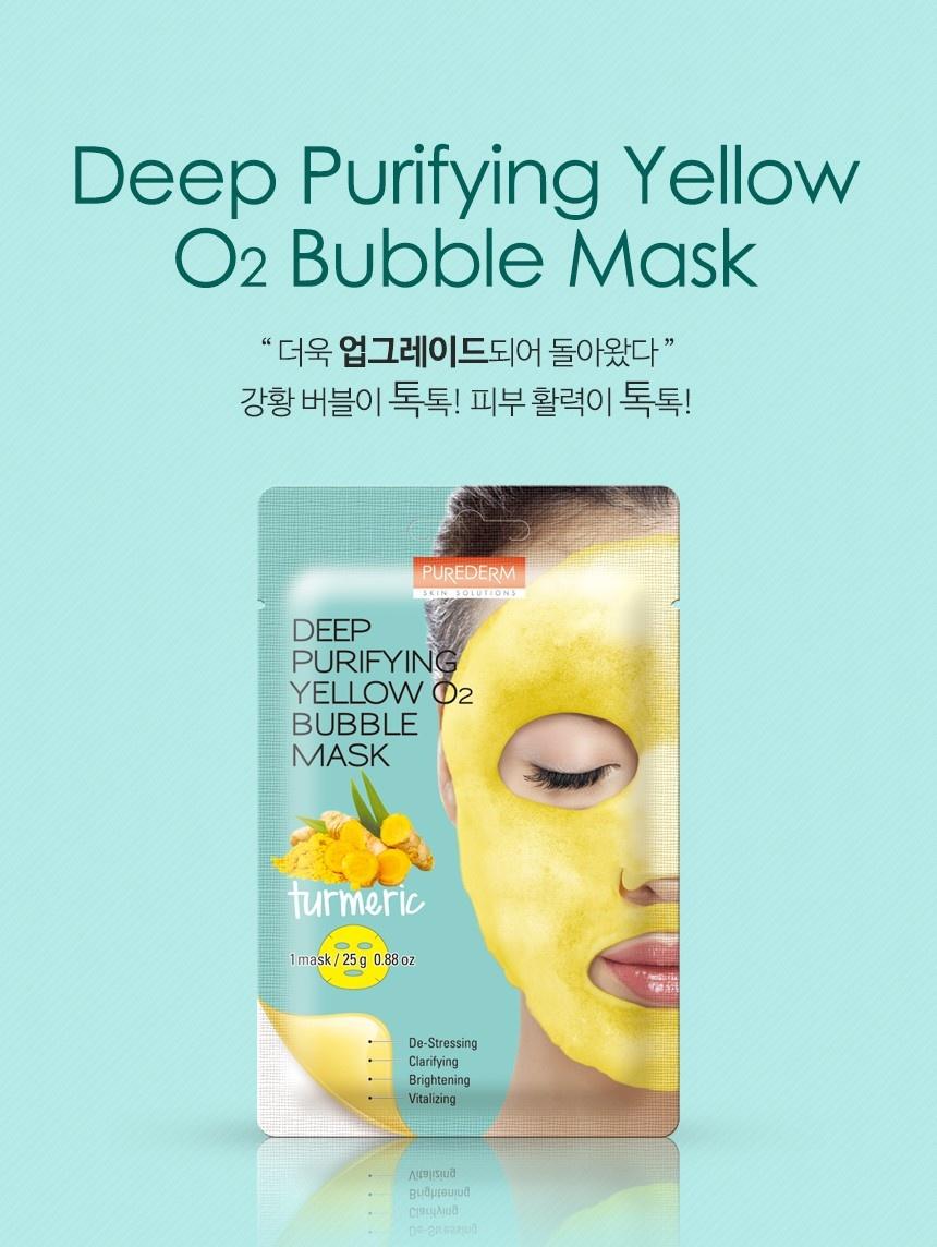Deep Purifying Yellow O2 Bubble Mask (Kurkuma)-2