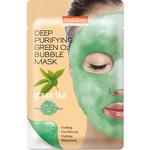 PUREDERM Deep Purifying Green O2 Bubble Mask (Grüntee)