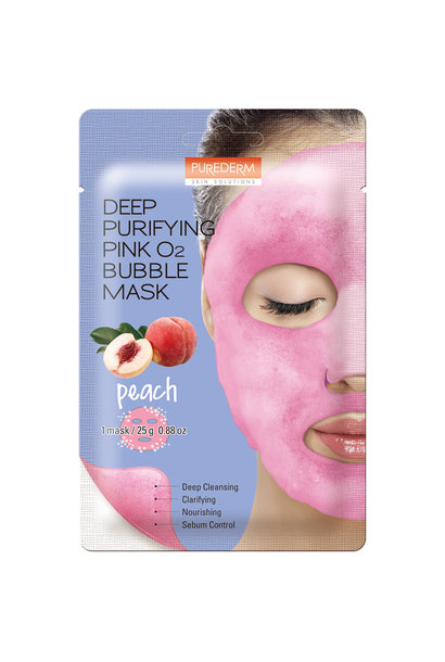Deep Purifying Pink O2 Bubble Mask (Pfirsich)