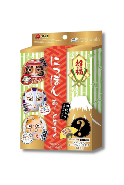 Pure Smile Nippon Art Mask Set ( 3+1 Stk)