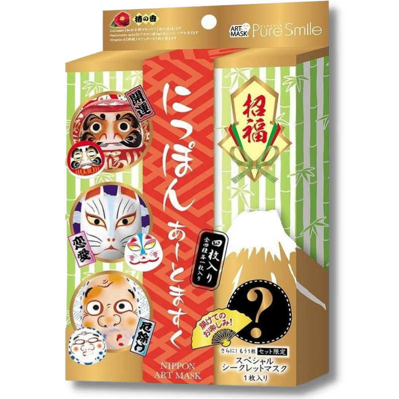 Pure Smile Nippon Art Mask Set ( 3+1 Stk)-1