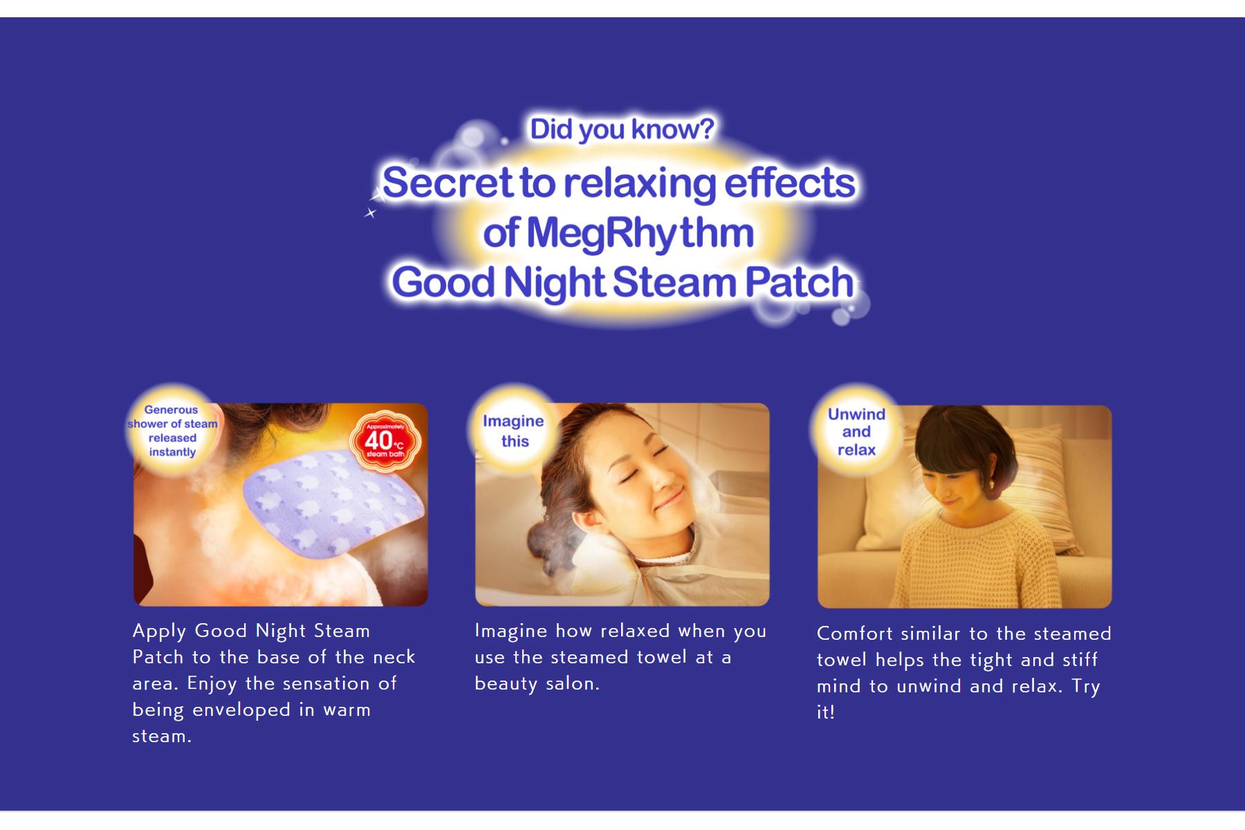 MegRhythm Steam Good Night Neck Sheet - Lavender (1 pc)-6