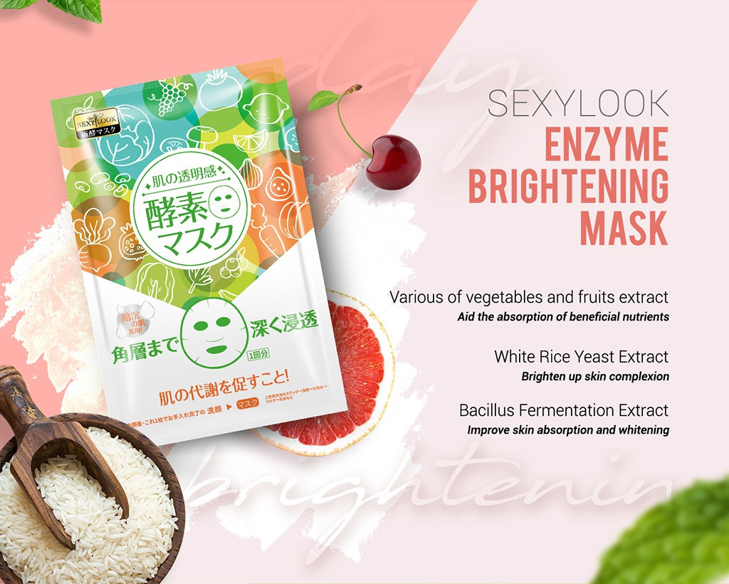 Enzyme Facial Mask Trial Mix (6 pcs)-9