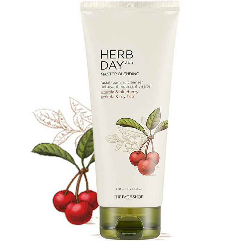 Herb Day 365 Cleansing Foam - Acerola&Blueberry-1