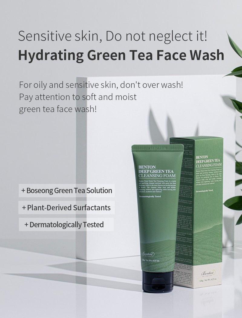 Deep Green Tea Cleansing Foam-2