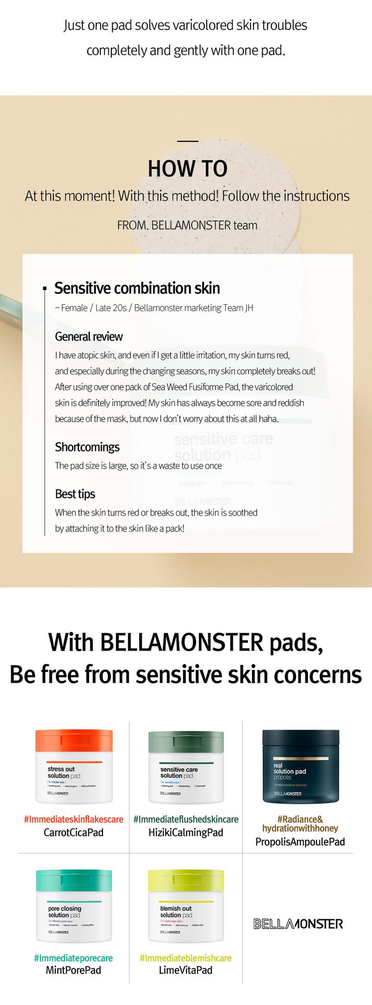 Sensitive Care Solution Seaweed Pad-10