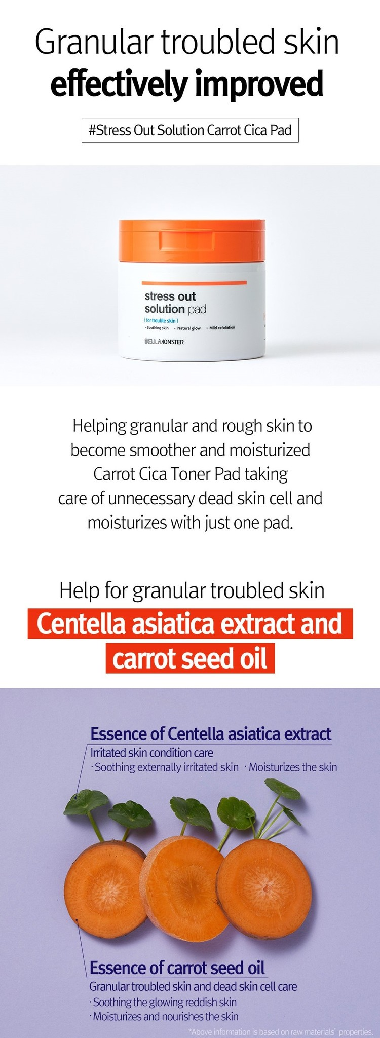 Stress Out Solution Carrot Cica Pad-4