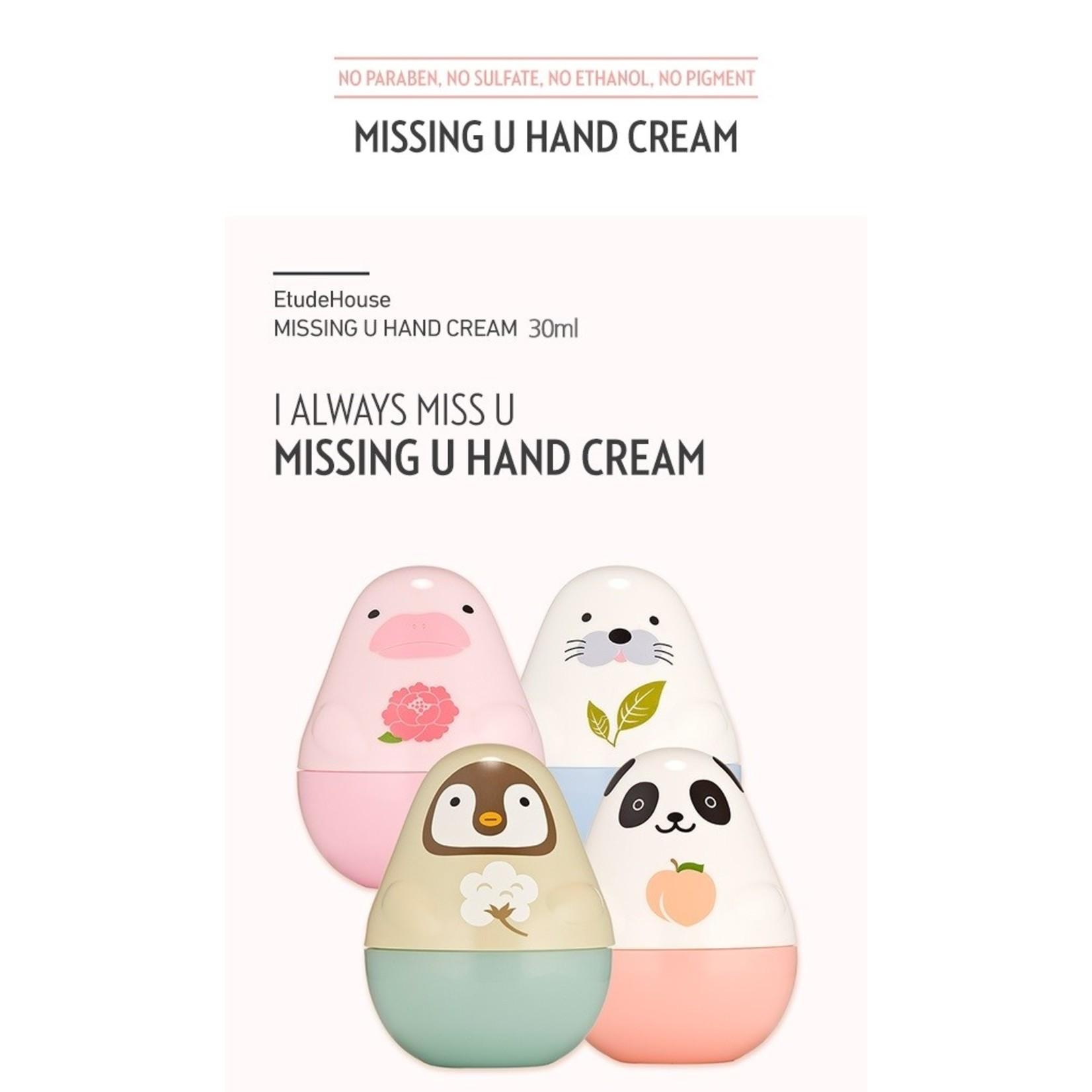 Etude House Missing U Hand Cream #1 Harp Seals