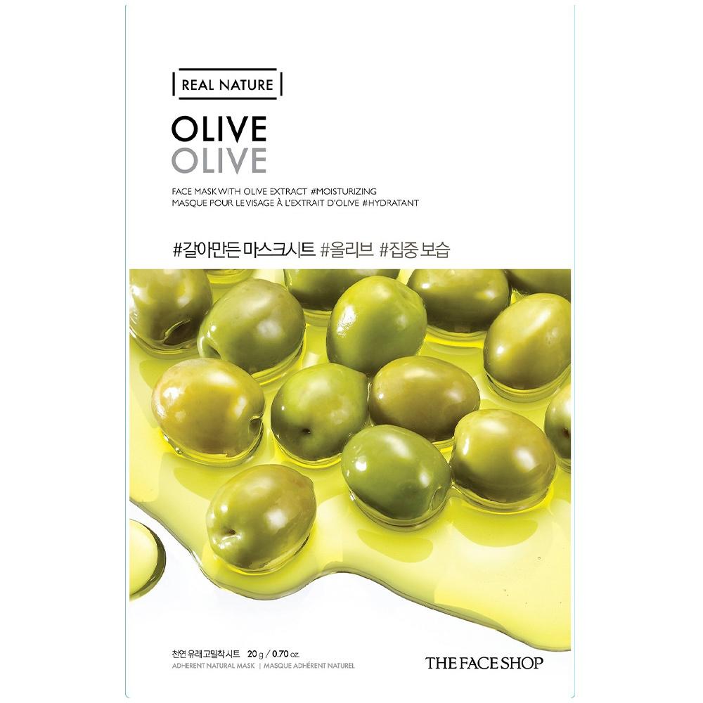 Real Nature Sheet Mask Olive-1