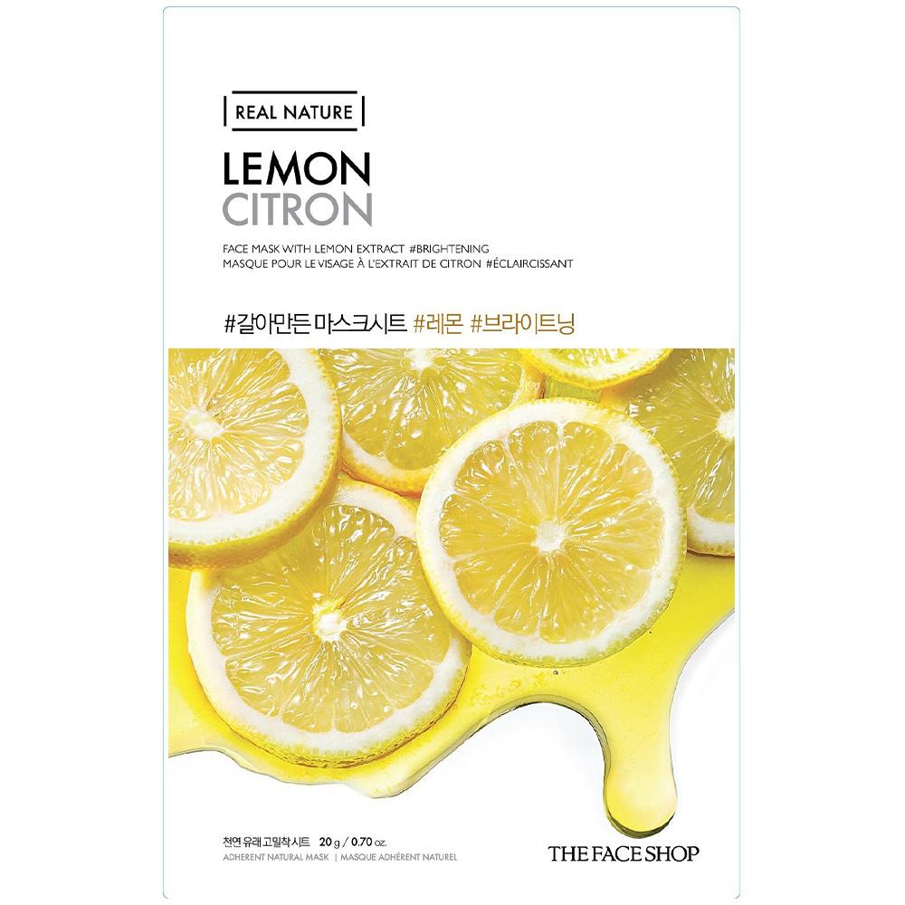 Real Nature Tuchmaske Zitrone-1