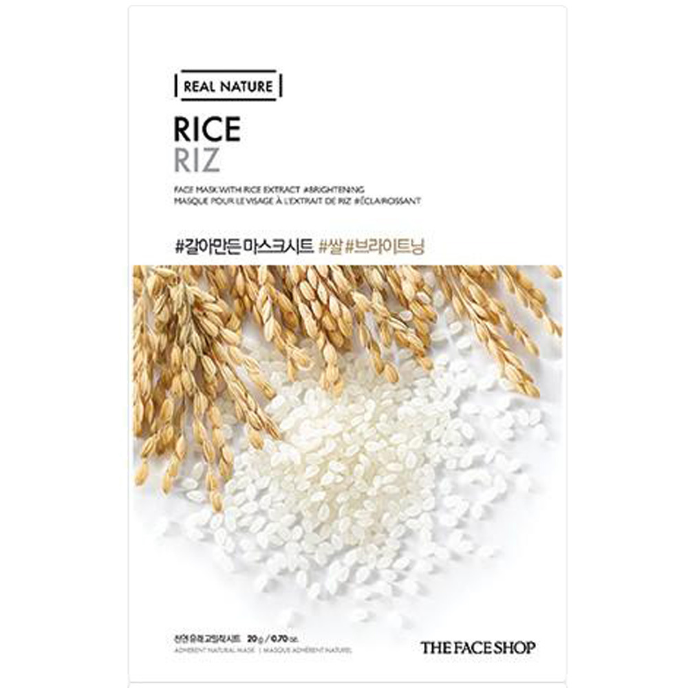 Real Nature Sheet Mask Rice-1