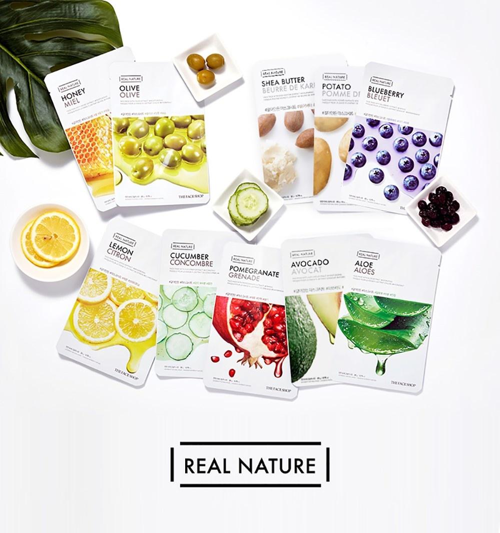 Real Nature Tuchmaske Zitrone-2