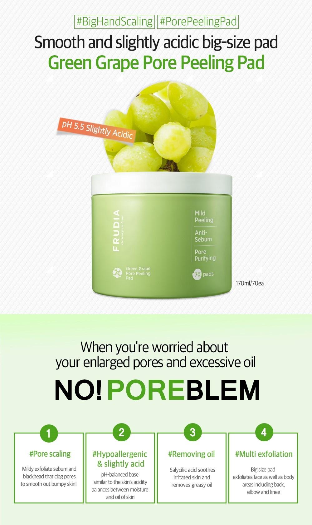 Green Grape Pore Peeling Pad-3