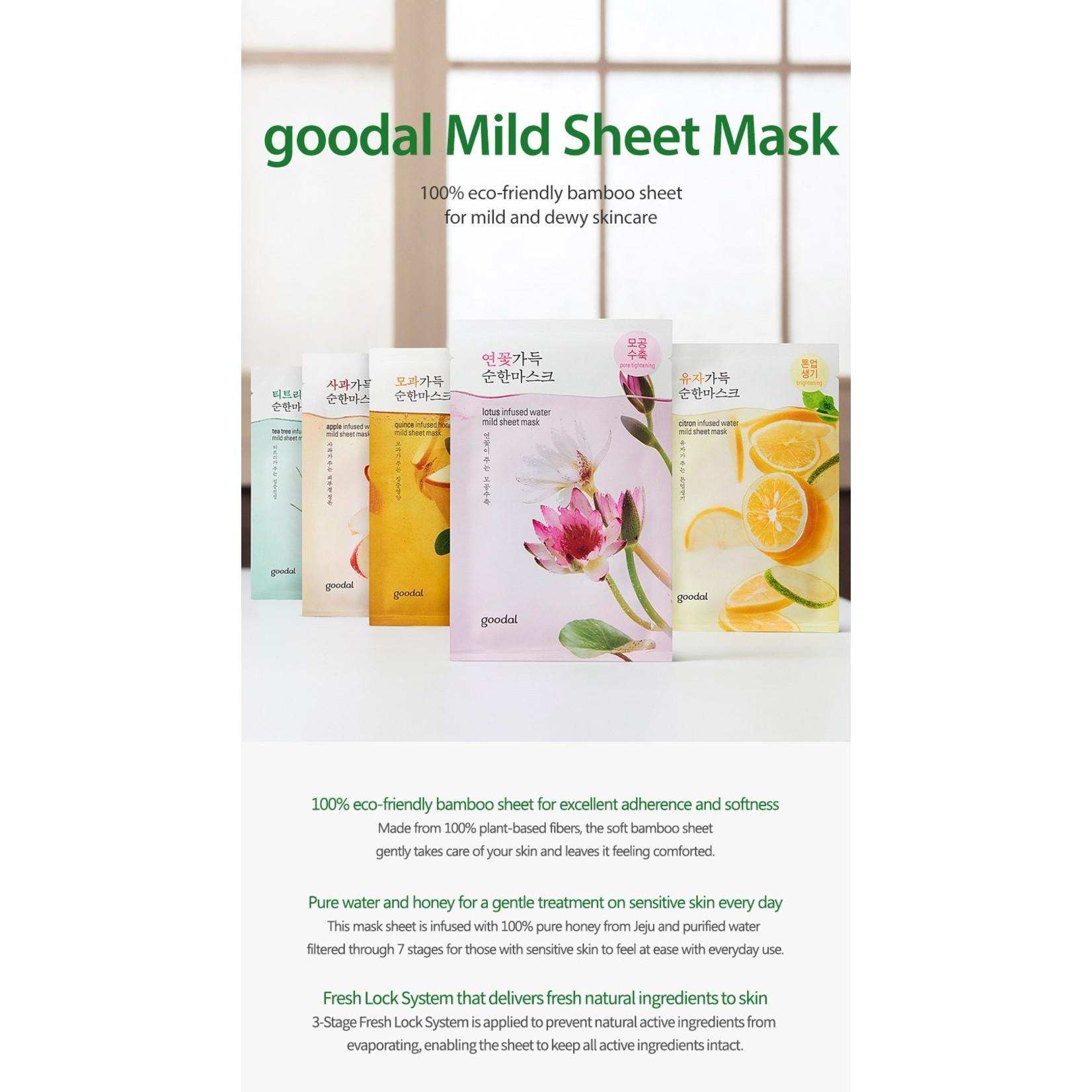 GOODAL lotus infused water mild sheet mask