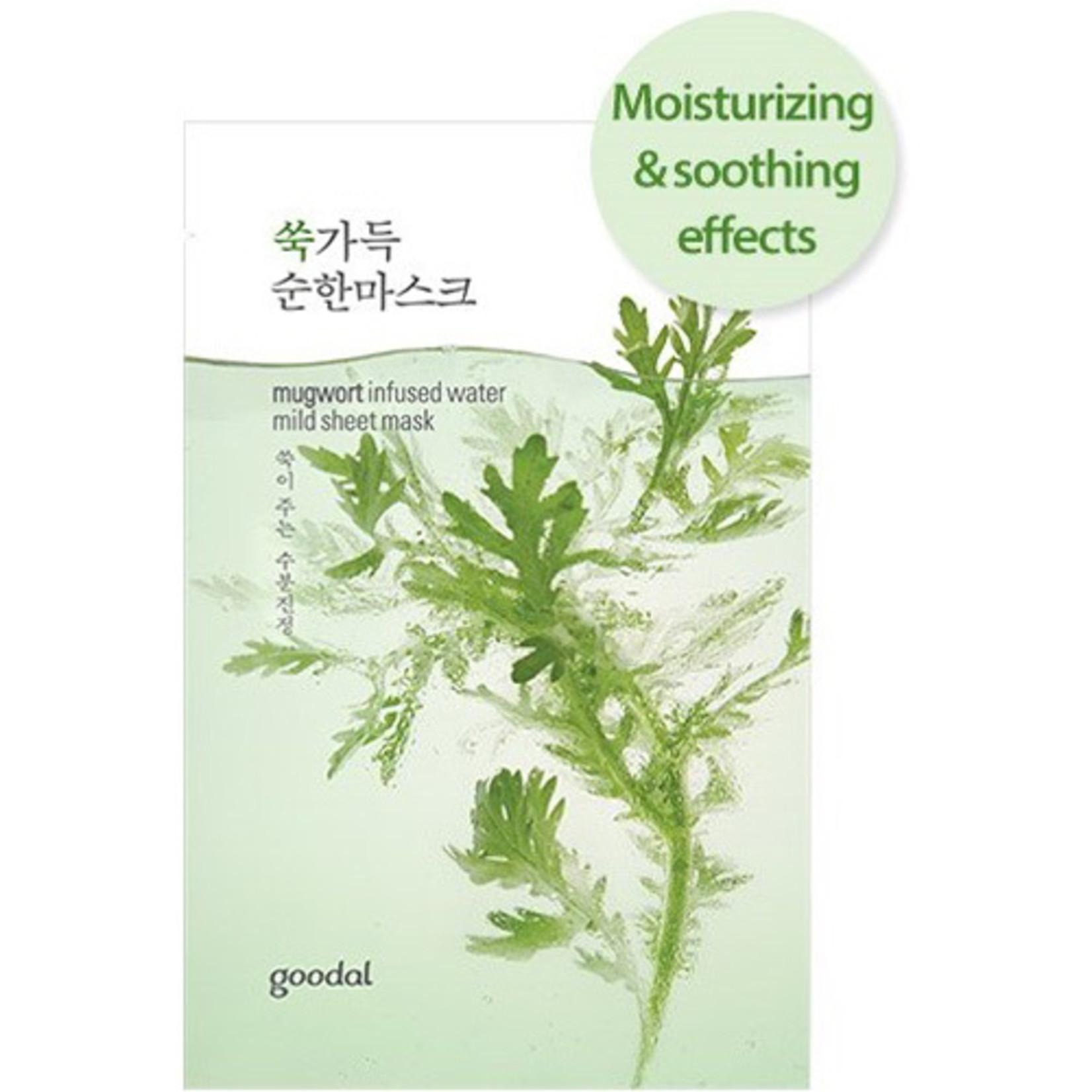 GOODAL mugwort infused water mild sheet mask