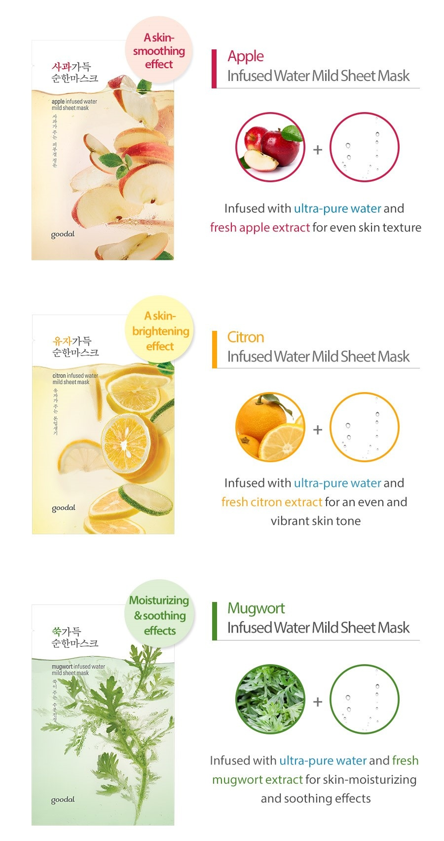 citron infused water mild sheet mask-5