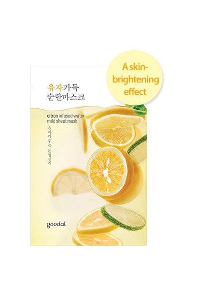 citron infused sheet mask