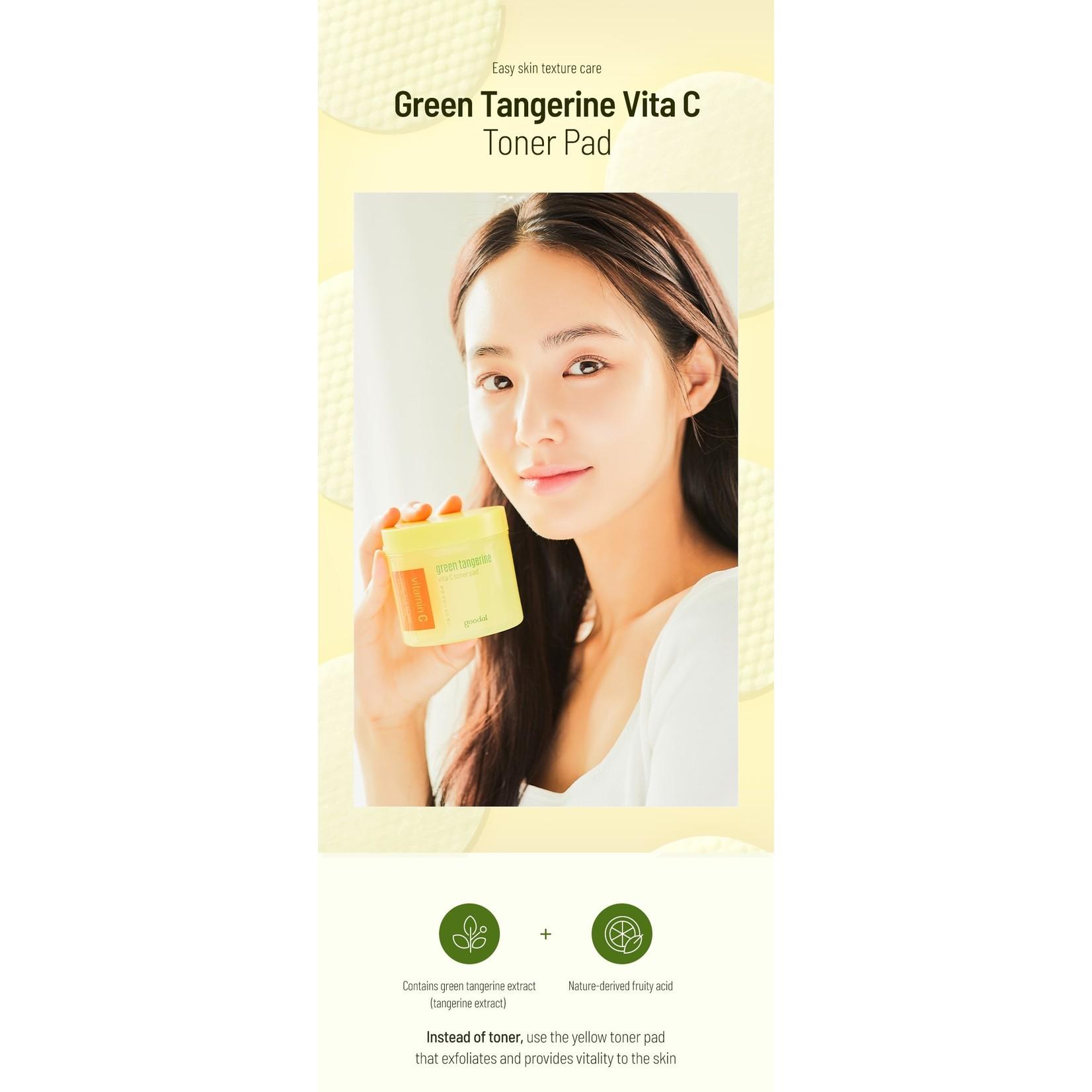 GOODAL Green Tangerine Vitamin C Toner Pad