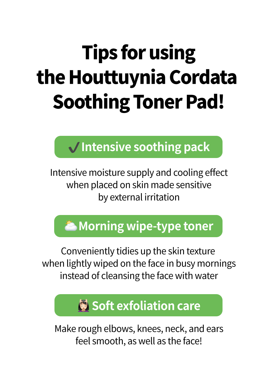 Houttuynia Cordata Calming Toner Pad-10