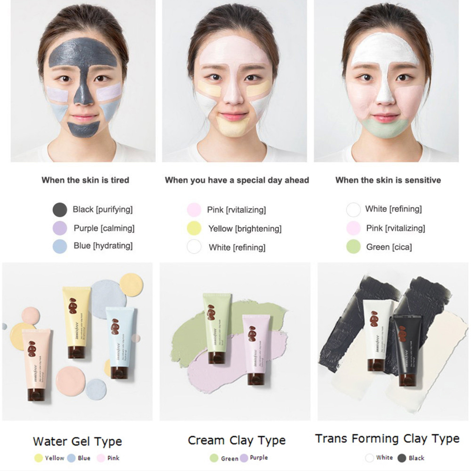 innisfree Jeju Volcanic Color Clay Mask - Purifying