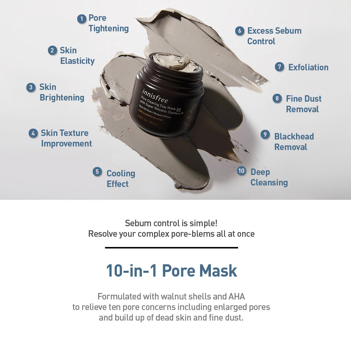 Super Volcanic Pore Clay Mask 2X-4