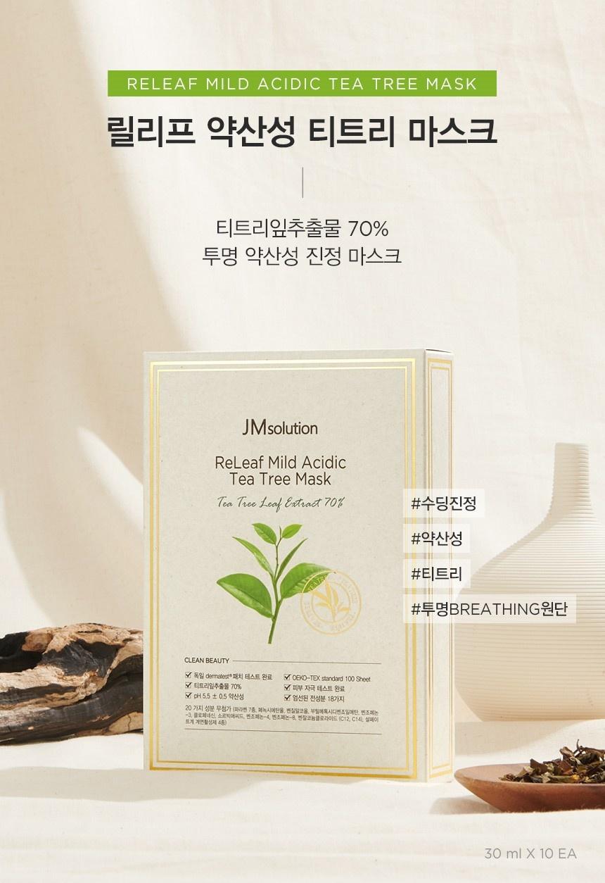 ReLeaf Mild Acidic Tea Tree Sheet Mask-2