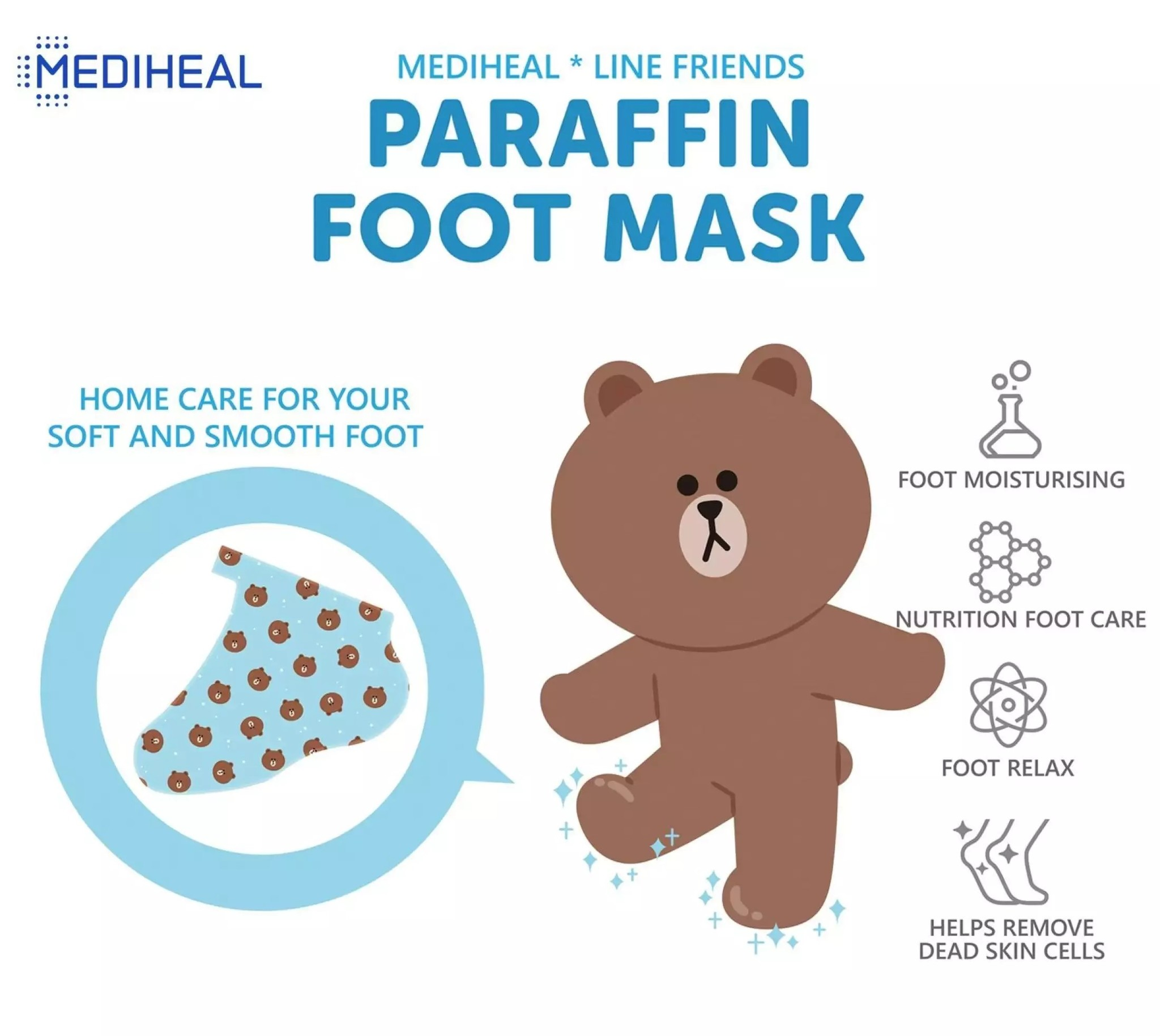Line Friends Paraffin Foot Mask-2