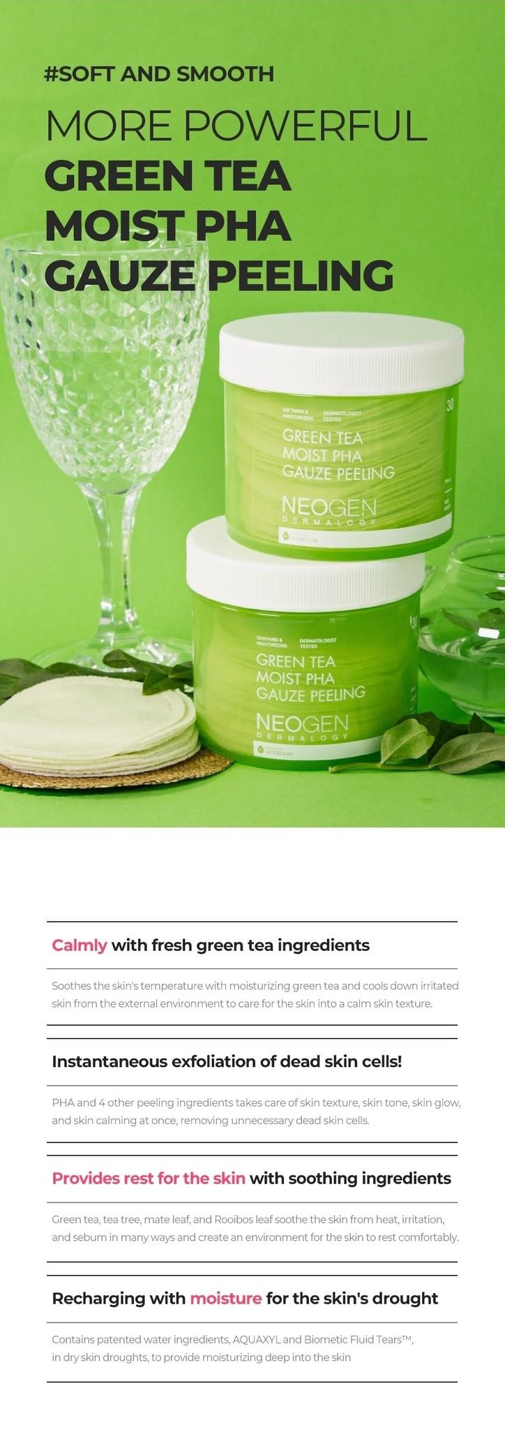 Green Tea Moist PHA Gauze Peeling-5