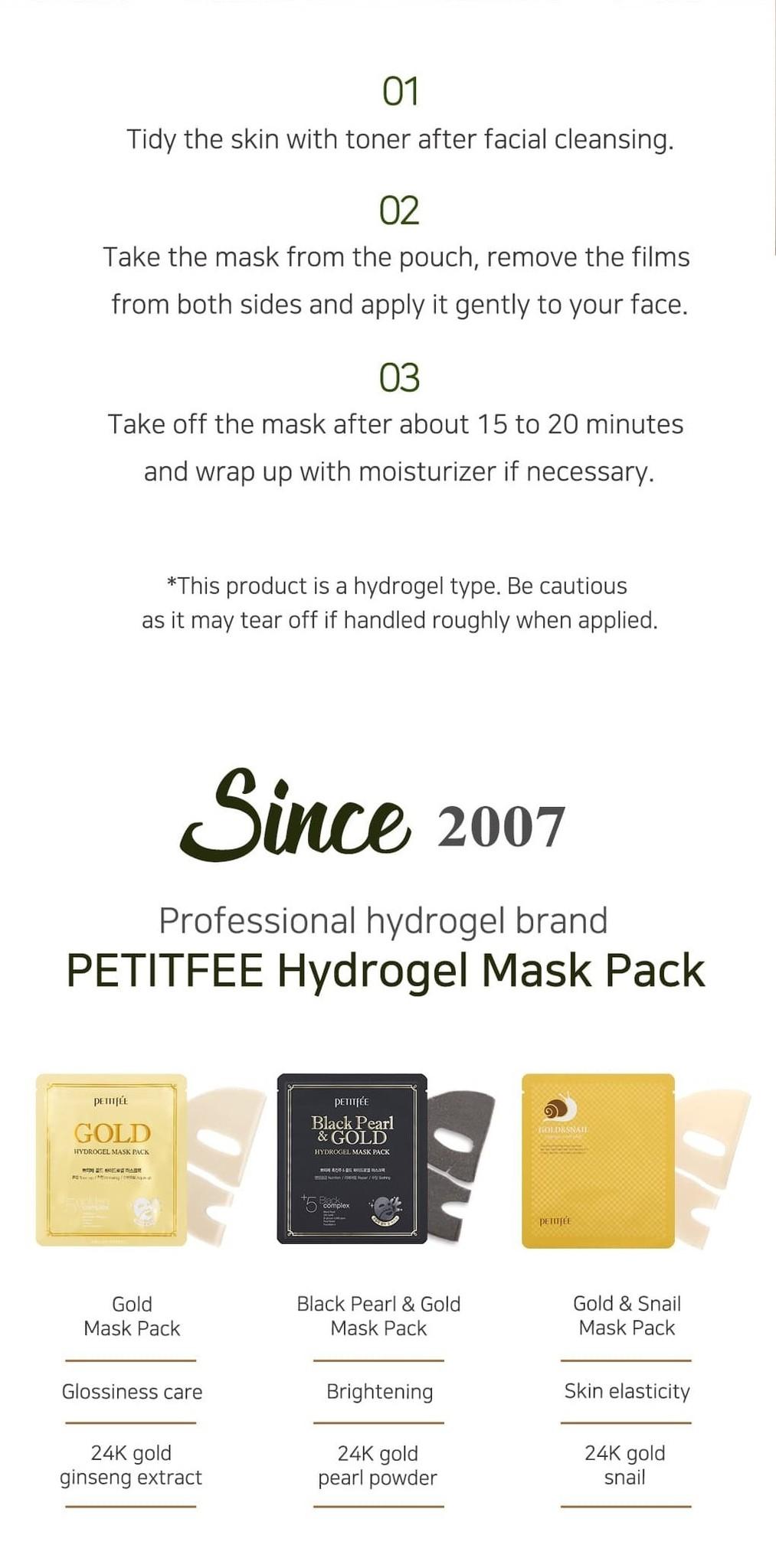 Gold & Snail Hydrogel Mask-8