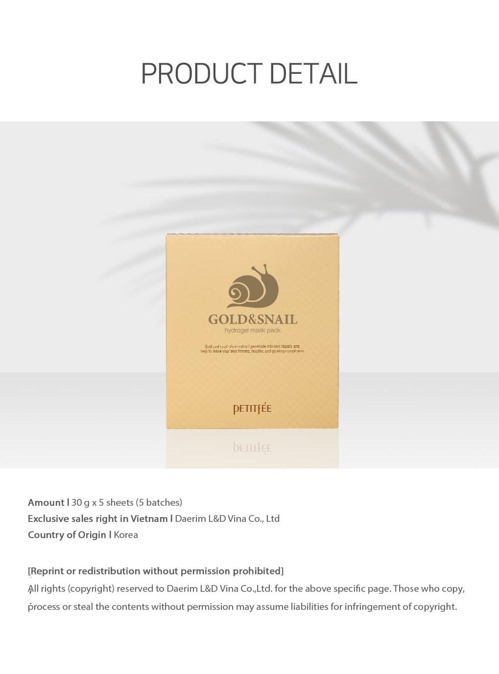 Gold & Snail Hydrogel Mask-9