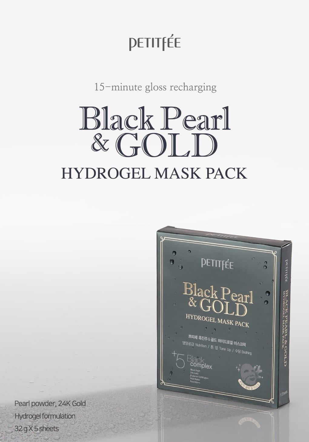 Black Pearl & Gold Hydrogel Mask-2